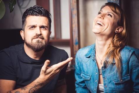 Leo e Diana gravaram 80 clipes em plano-sequncia (Foto: Divulgao/Bis)