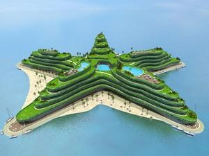 Projeto do Hotel Greenstar, nas Maldivas (Foto: Divulgação)