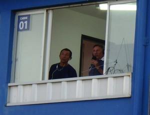 Cabine rádio Atlético Potengi x Assu (Foto: Klênyo Galvão/GloboEsporte.com)