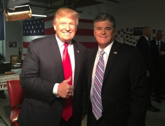 Sean Hannity, apresentador da Fox News, com Donald Trump (Foto: Reprodução/ Twitter)