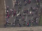 Motociclistas protestam na 23 de Maio, em São Paulo