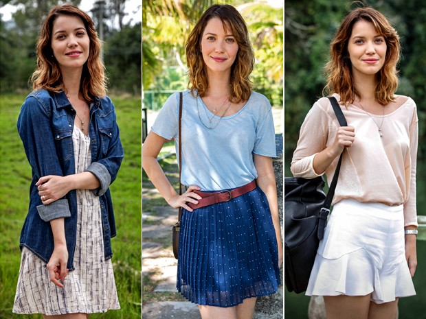 Leveza marca estilo de Laura, com sainhas e vestidinhos (Foto: Camila Camacho/ Fabio Rocha/ Raphael Dias/ Gshow)