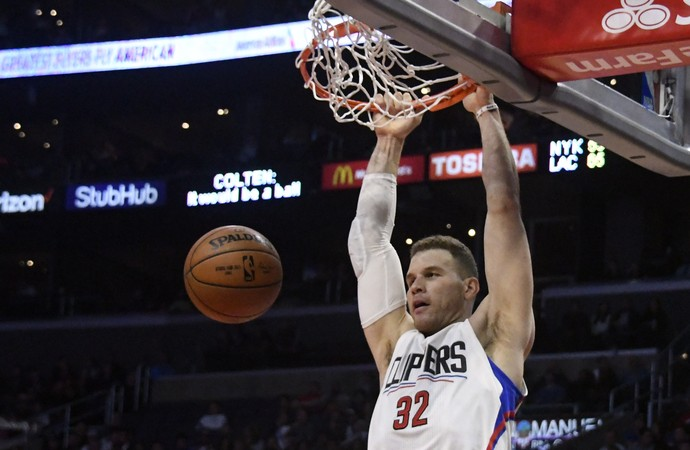 Blake Griffin Clippers x Knicks NBA (Foto: Reuters)