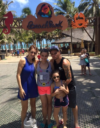 Pará Flamengo e família férias (Foto: Arquivo pessoal)
