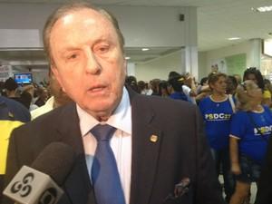 Eymael é candidato pelo PSDC à presidência da República (Foto: Dyepeson Martins/G1)