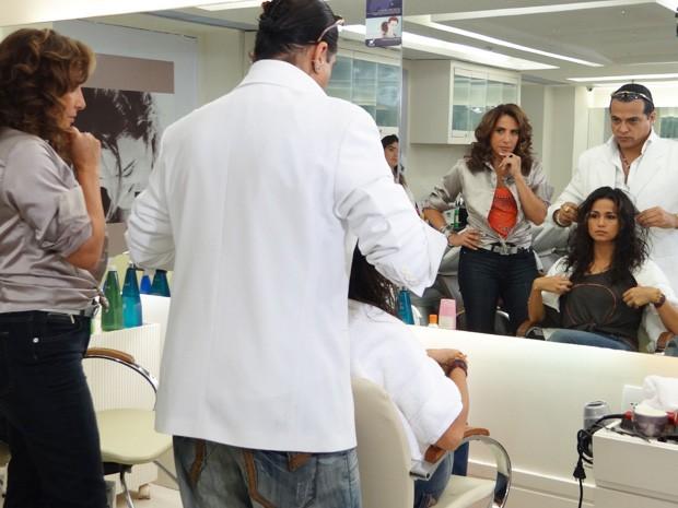 Nanda faz mudança no cabelo para nova fase de personagem  (Foto: Salve Jorge/ TV Globo)