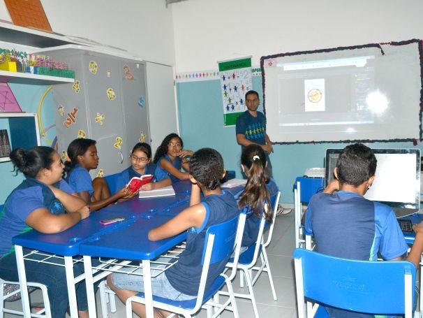 Educandos do ECE Jaboatão participam de atividades com jogos (Foto: Divulgação)