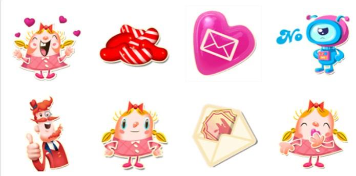 Candy Crush Saga é o único jogo que tem um pacote de figurinhas dedicado no Facebook (Foto: Reprodução/Carol Danelli)
