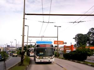 São Bernardo (SP) já testa ônibus movidos a hidrogênio (Foto: Reprodução/EPTV)