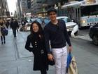 Ao lado da irmã, Enzo Celulari esbanja estilo em Nova York