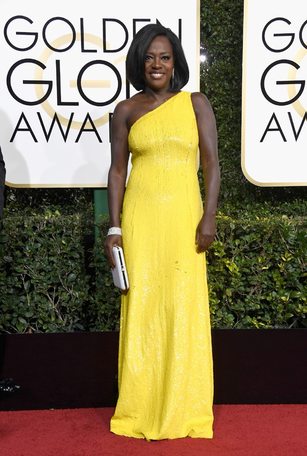 BEVERLY HILLS, CA - JANUARY 08:  Actress Viola Davis attends the 74th Annual Golden Globe Awards at The Beverly Hilton Hotel on January 8, 2017 in Beverly Hills, California.  (Photo by Frazer Harrison/Getty Images) (Foto: Getty Images)