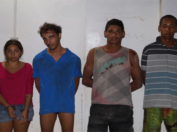 Da esquerda: Dayane da Conceição Silva, Diego Guedes Correia Alves, José Gomes da Silva Filho e Kleison Conceição (Foto: Renan Belo/Divulgação PC)