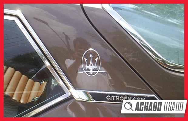 Sigla SM indicava o uso de mecânica Maserati (Foto: Reprodução)