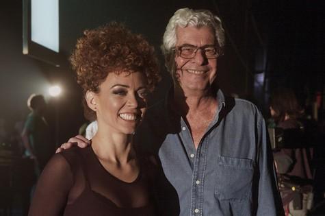 Laila Garin com o diretor Miguel Faria Jr. (Foto: Divulgação)