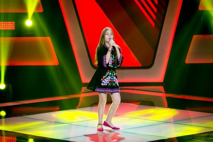 Gigi Fonseca levou reggae para o palco do The Voice Kids (Foto: Isabella Pinheiro/Gshow)