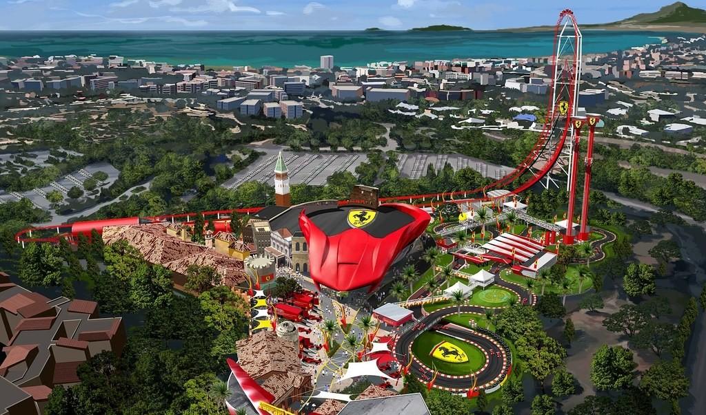 Ferrari Land no parque PortAventura, na Espanha (Foto: Diulgação)