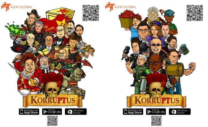 Os vilões e os heróis em KorruPTus (Foto: Divulgação)