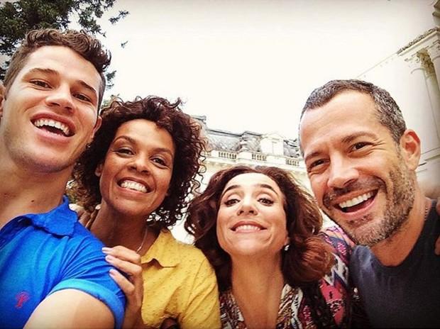 Haja Coração: José Loreto, Ana Carbatti, Marisa Orth e Malvino Salvador  (Foto: Reprodução/Instagram)
