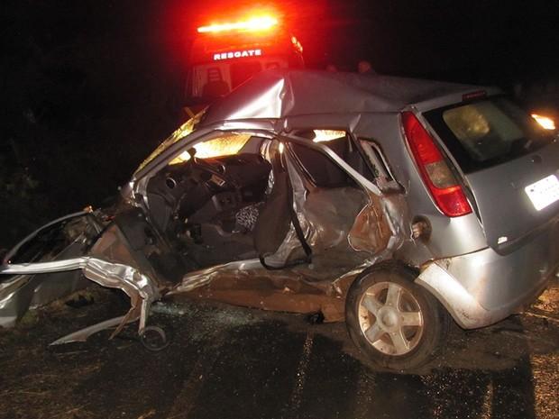 Duas mulheres morreram no acidente ocorrido na noite de domingo (Foto: Site Guia São Luiz Gonzaga)