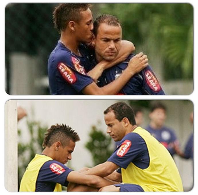 Neymar manda mensagem a santista Léo (Foto: Reprodução/Instagram)