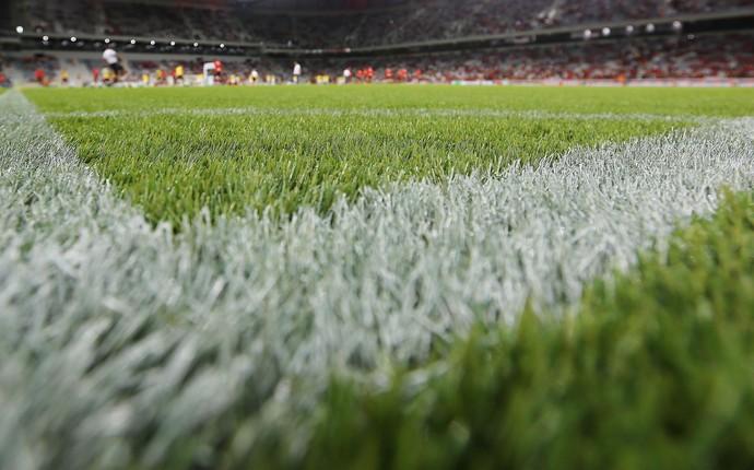 gramado arena da baixada atlético-pr (Foto: Giuliano Gomes/PR Press)