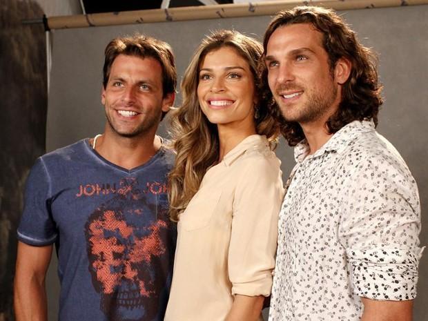 O trio protagonista Henri Castelli, Grazi Massafera e Igor Rickli (Foto: TV Globo / Miriam Paço)
