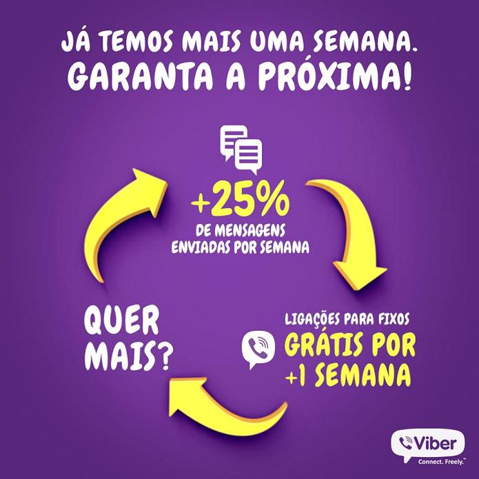 Viber ganhou mais uma semana de ligações grátis (Foto: Divulgação/Viber)