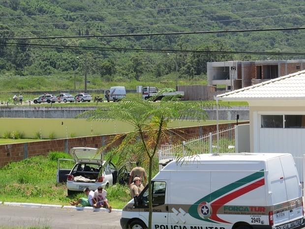 Assalto e buscas ocorreram no bairro Ingleses (Foto: Jefferson Lopes/Divulgação)