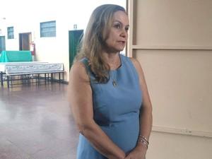 Secretária municipal de Educação de Uberlândia Célia Maria Tavares (Foto: Caroline Aleixo/G1)