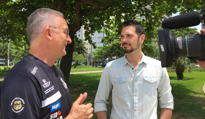Dorival Junior conversou com o repórter Renato Cury (Foto: Sergio Gandolphi)