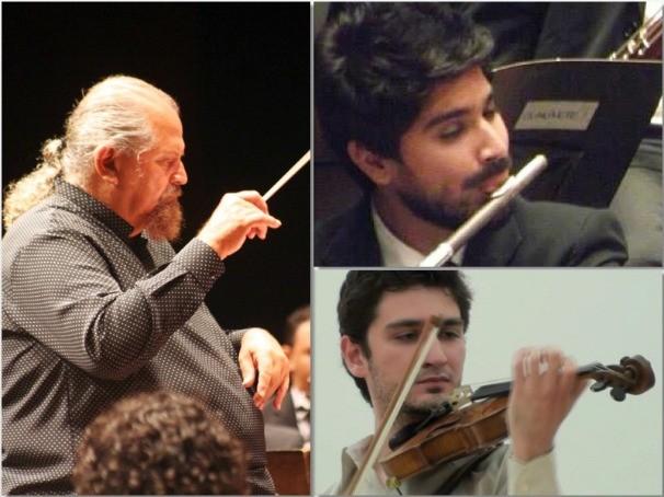 Maestro Joaquim Jayme se apresenta junto com o violinista Pedro Barreto e o Flautista Rafael Ribeiro. (Foto: Divulgação)
