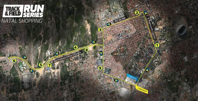 Percurso Track&Field Run Series Natal (Foto: Divulgação)