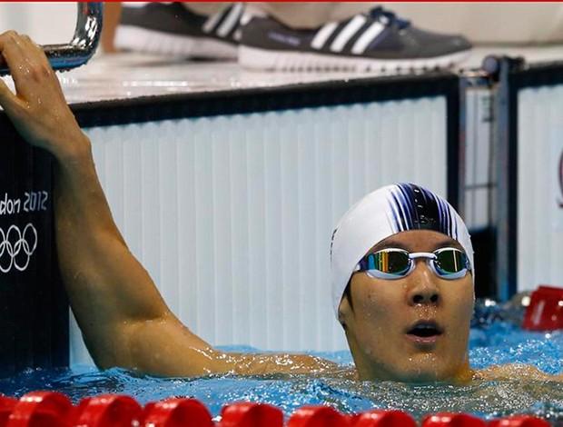 natação Park Tae-Hwan coreia do sul reclassificado 400m londres 2012 (Foto: Agência Reuters)