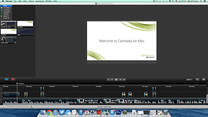 Software Camtasia no Mac OS (Foto: Reprodução/Marvin Costa)