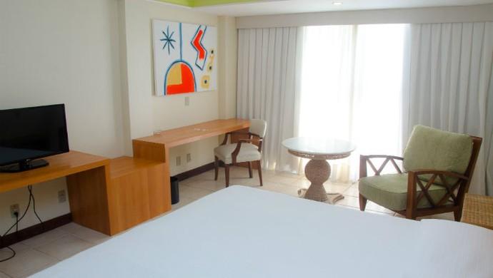 Quarto do hotel 5 estrelas que recebeu a delegação de Gana em Natal (Foto: Divulgação)