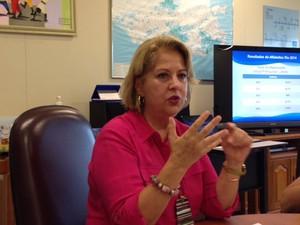Helena Bomeny, secretária de Educação (Foto: Káthia Mello/G1)