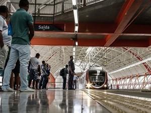 Estação de metrô, em Salvador. (Foto: Divulgação/ CCR Metrô)