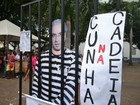 Manifestação pró-Dilma em Cuiabá pede cassação de Eduardo Cunha