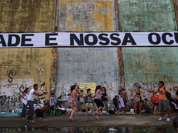 Atividades ao ar livre no Cais José Estelita (Foto: Luna Markman/G1)