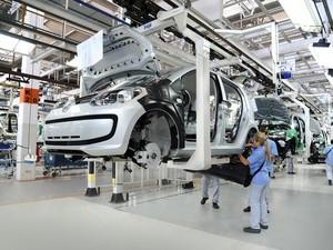fábrica do Volkswagen Up! em Taubaté (Foto: Divulgação)