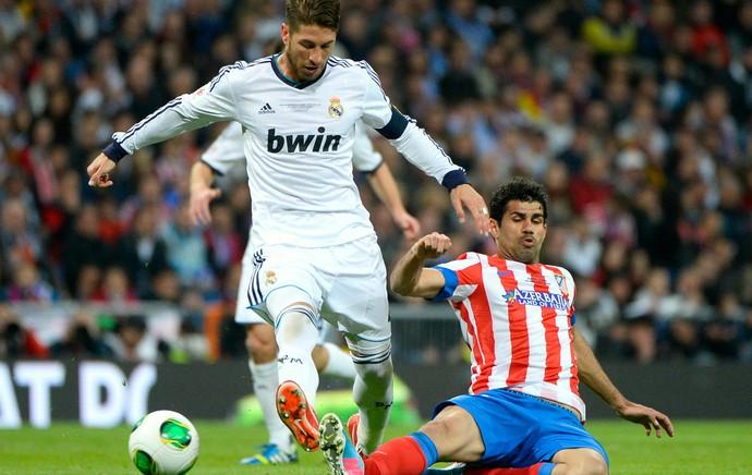 Diego Costa Sergio Ramos Atlético Real Madrid (Foto: AFP)