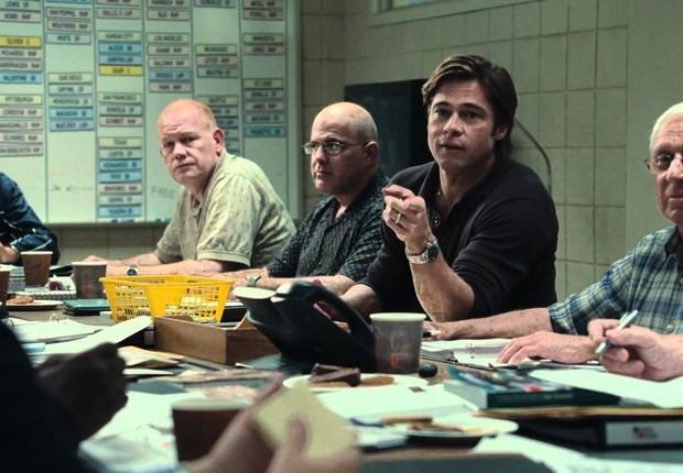 Brad Pitt é o treinador que vira o jogo em Moneyball (Foto: Divulgação)