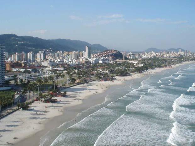 Litoral de Guarujá também foi analisada em pesquisa (Foto: Unesp)