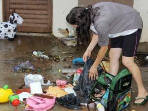 Duas famílias ficaram desabrigadas em Cianorte após chuva intensa (Foto: Divulgação/ Ascom/ Prefeitura de Cianorte)
