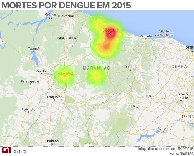 Gráfico de mortes por dengue no Maranhão (Foto: Maurício Araya / G1)