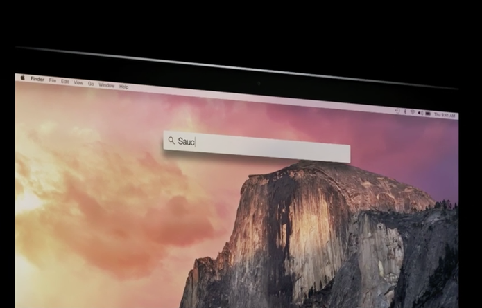 Spotlight no OS X Yosemite (Foto: Reprodução/Apple)