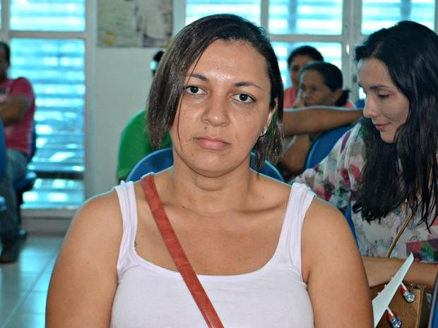 Priscila Costa diz que não recebeu em dezembro porque não fez perícia  (Foto: Iryá Rodrigues/G1)