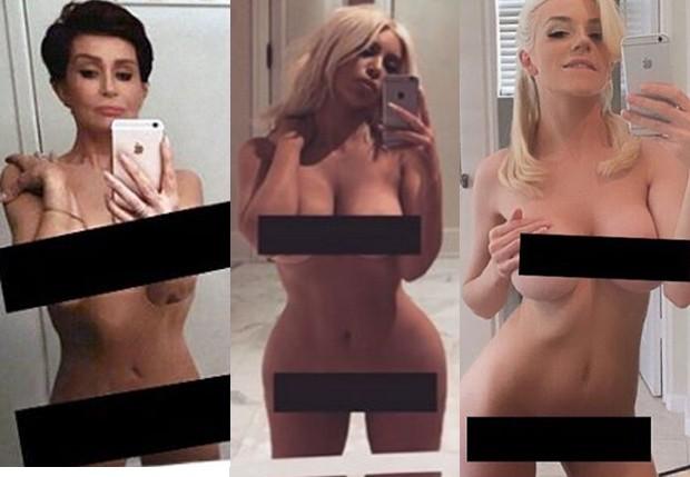 Sharon Osbourne, Kim Kardashian e Courtney Stodden (Foto: Reprodução/Instagram)