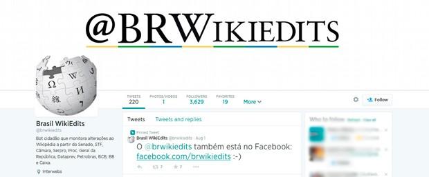@brwikiedits pode ser acompanhado nas redes sociais (Foto: Reprodução/Twitter)
