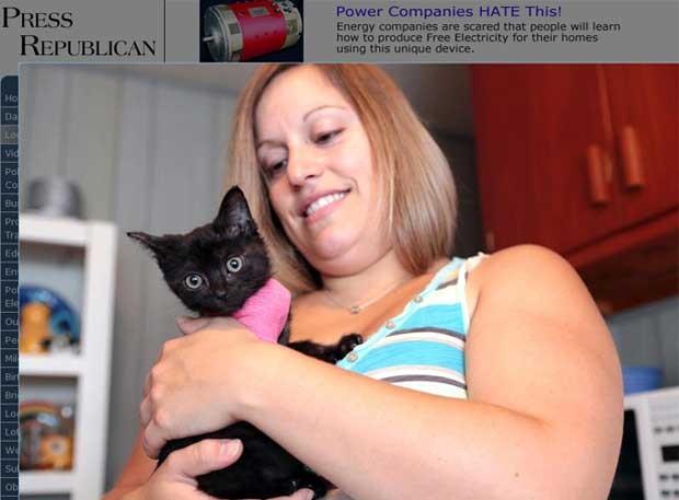 Stacey Pulsifer segura Pumpkin, de 6 semanas (Foto: Reprodução)